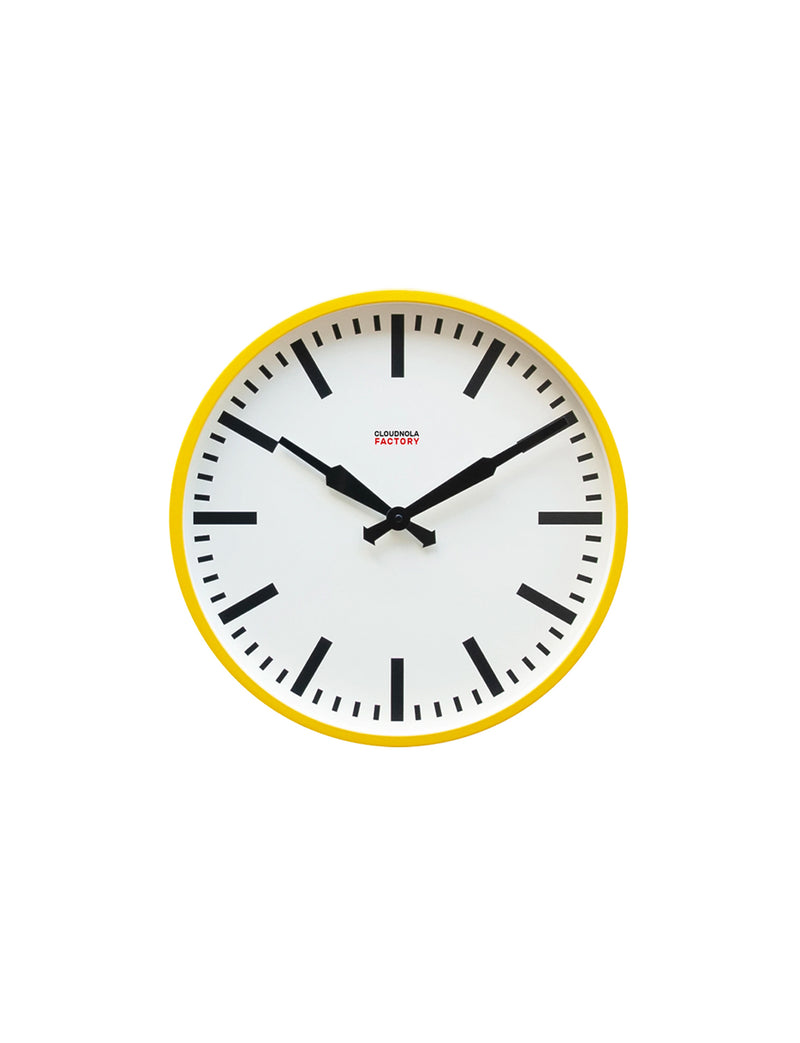 Factory Ocher Yellow Station Clock 18""