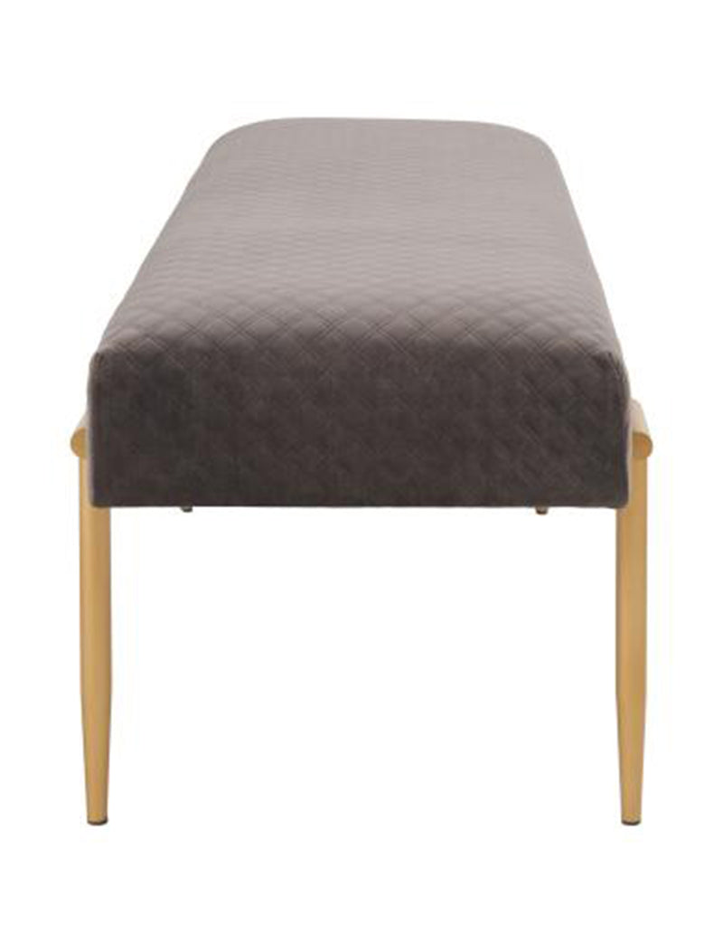 Clarinet KD Quilted Velvet Fabric Bench