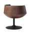 Coconut Swivel Chair - Dark Walnut