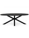 Morse Black Acacia Oval Dining Table