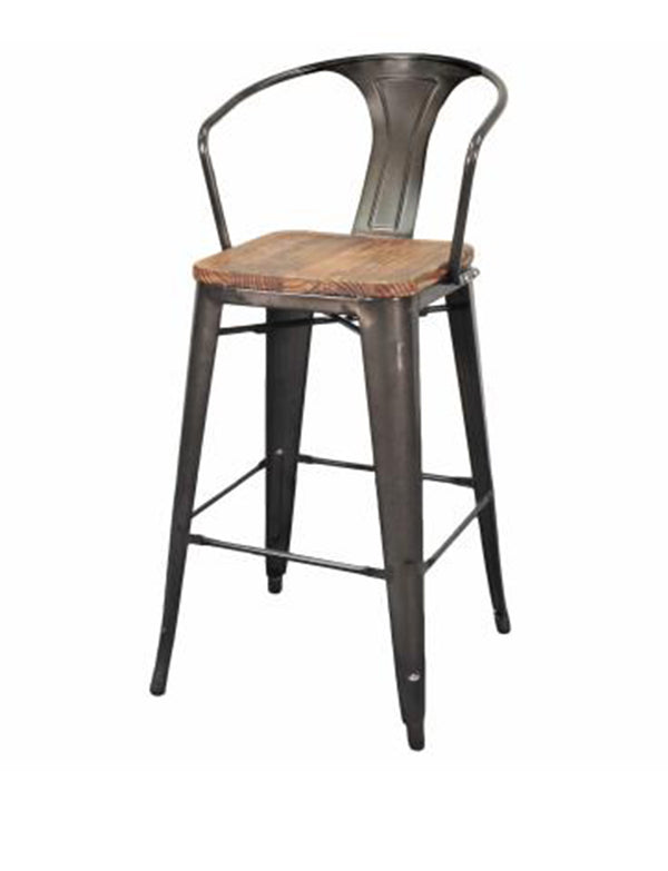Minneapolis Bar Stool - Gunmetal