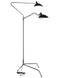 Vary Stainless Steel Black Floor Lamp