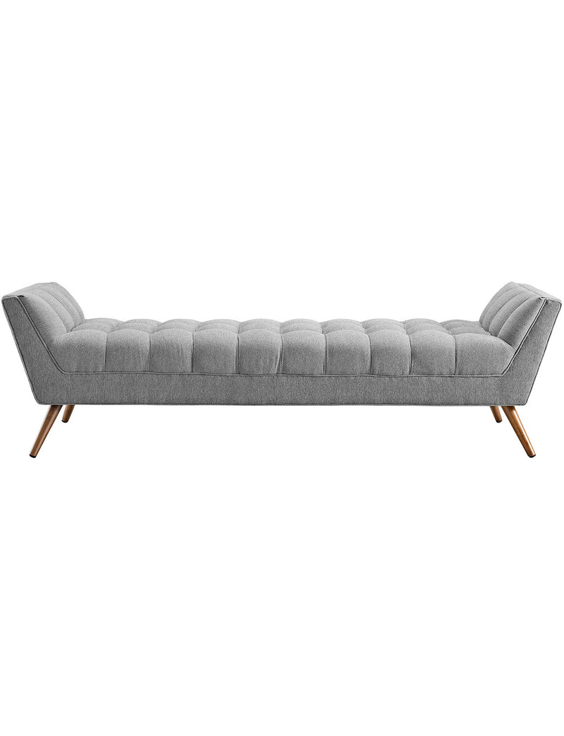 Raise Upholstered Fabric Bench