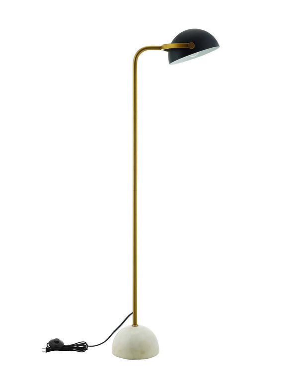 Convert Bronze and White Marble Floor Lamp
