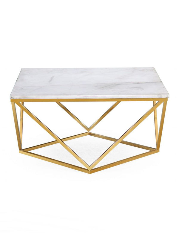 LARRY WHITE MARBLE COCKTAIL TABLE