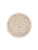 Round Natural Woven Palm Placemat