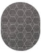 Trellis Frieze Oval Rug, Dark Grey