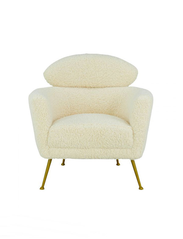 WELLA FAUX SHEARLING CHAIR