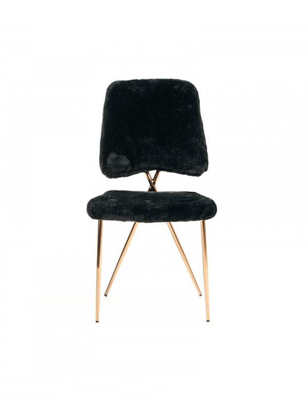 CHARLIE FAUX FUR DINING CHAIR