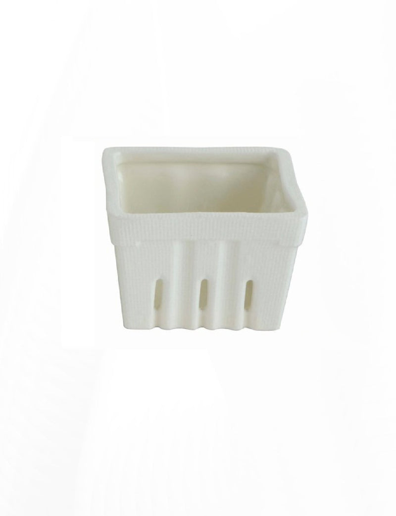 Square Stoneware Berry Basket