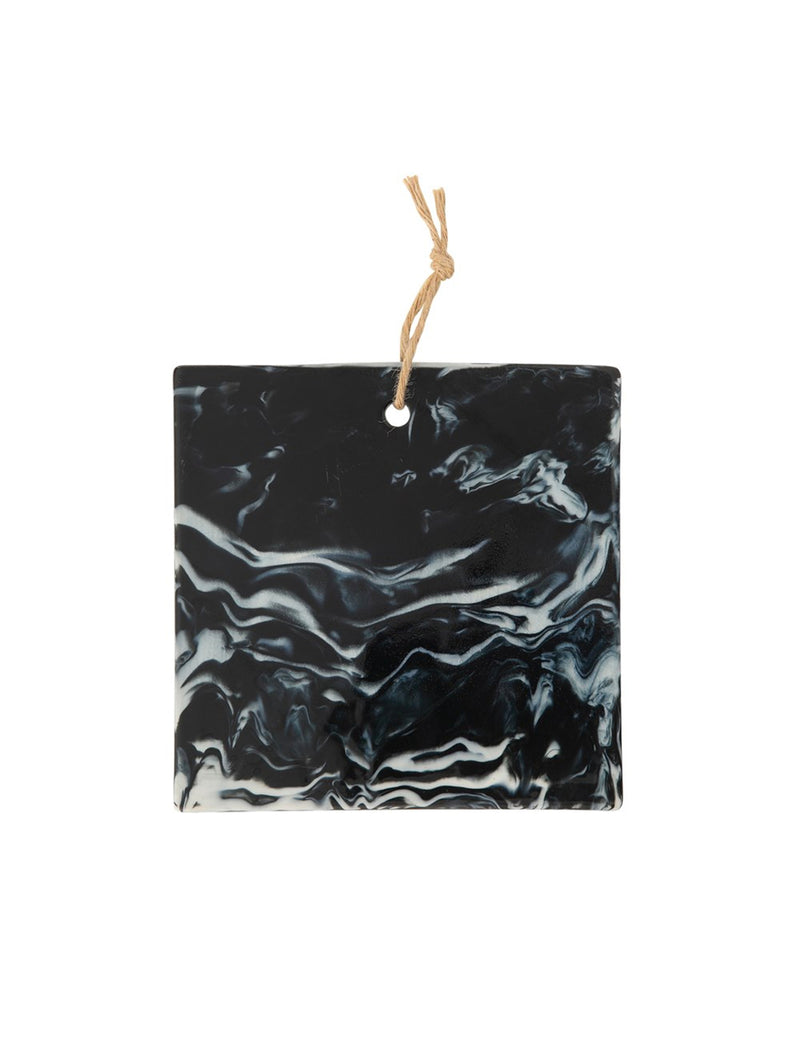 Square Ceramic Cheese Board, Charcoal / 10""