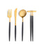 Goa Flatware Black/Gold