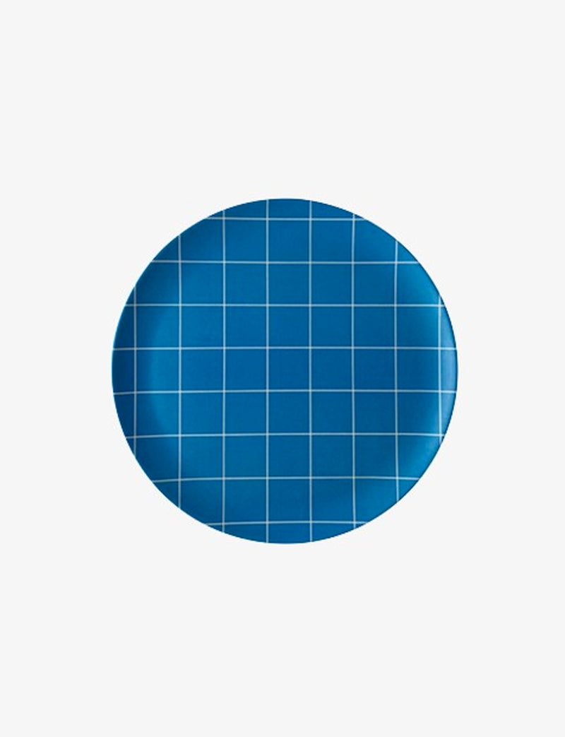 Xenia Taler Blue grid side Plate / 8""