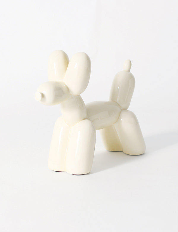 Big Top Ceramic Balloon Dog Bookend, Glossy