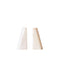 White Marble Bookends, Set of 2