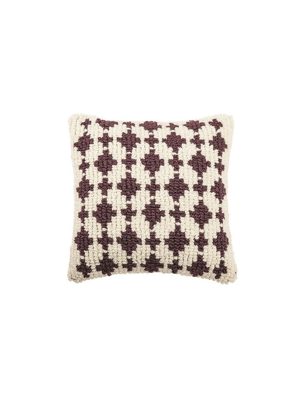 Square Woven Wool Looped Pillow 22""