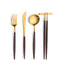 Goa Flatware Brown/Gold