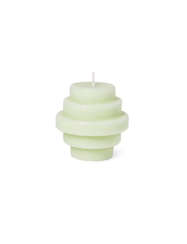 Octaevo Templo Candle Sculpture Ash Green