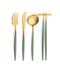 Goa Flatware Celadon/Gold