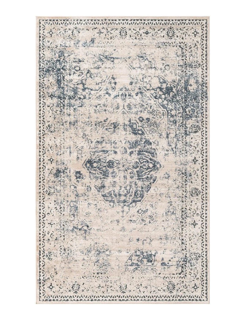 Chateau Rectangle Rug, Dark Blue