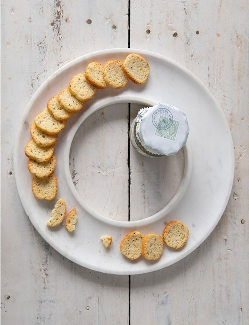 Round Marble Circle Cheese Tray / 13""