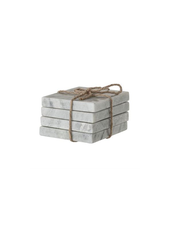 "4"" Square Marble Coasters, Set of 4"
