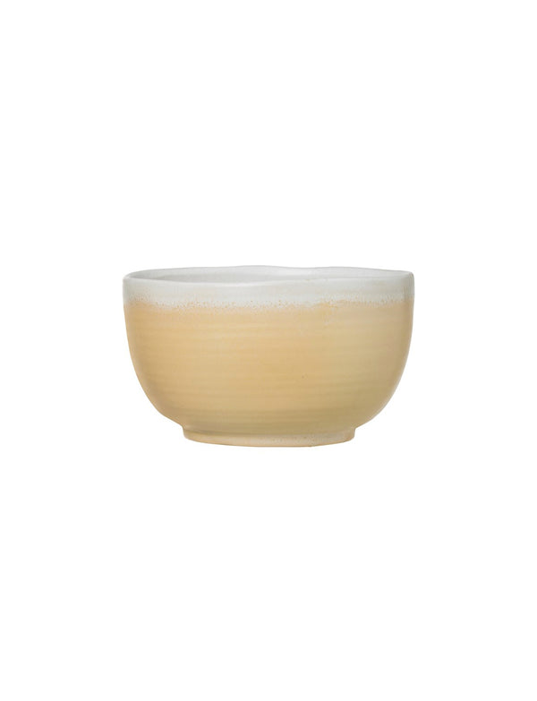 Stoneware Bowl, Reactive Glaze, Cream / 7""