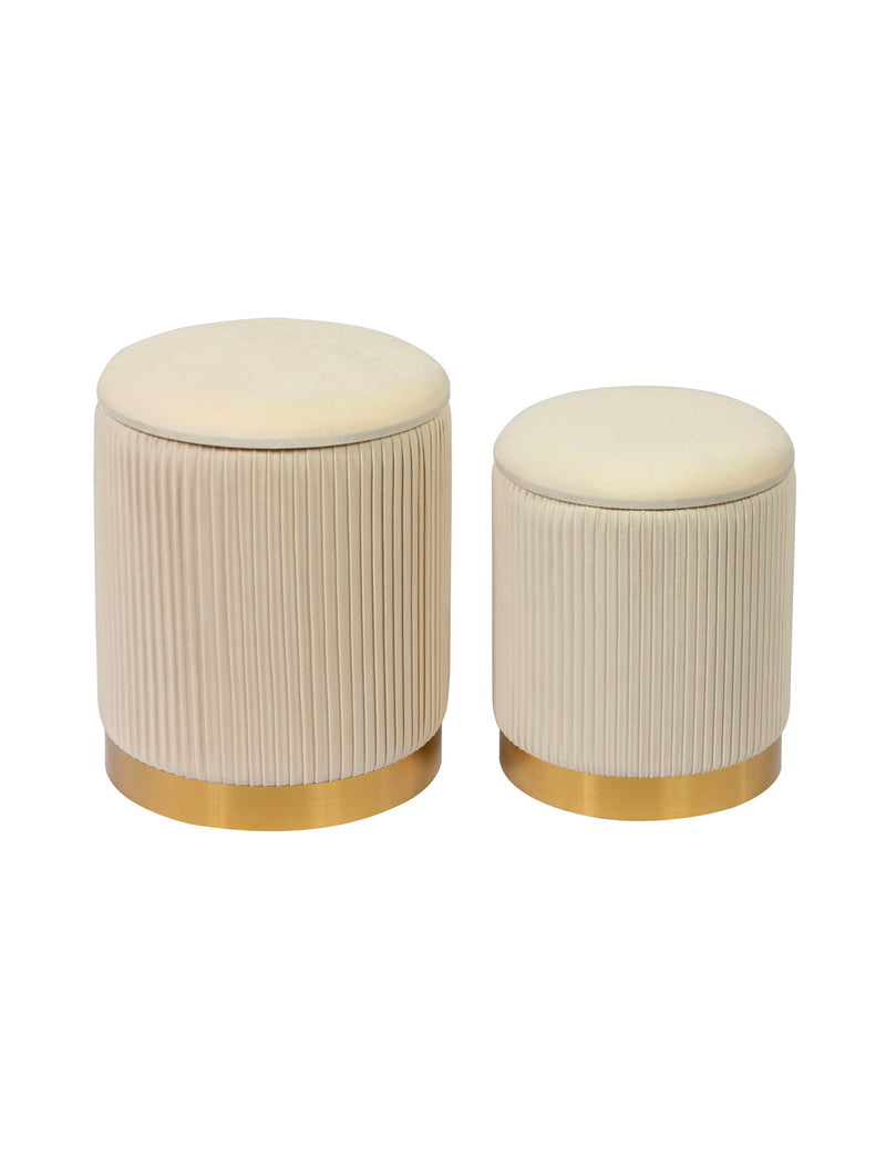 Channel Storage Ottomans (Set of 2)