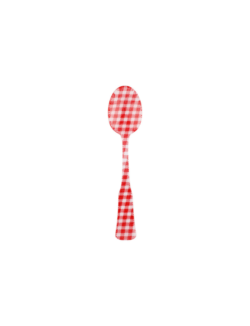 SABRE Charm Gingham Damitasse Spoon