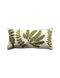 "Cotton Bolster w/ Fern Fronds Embroidery / 32"" x 15"""