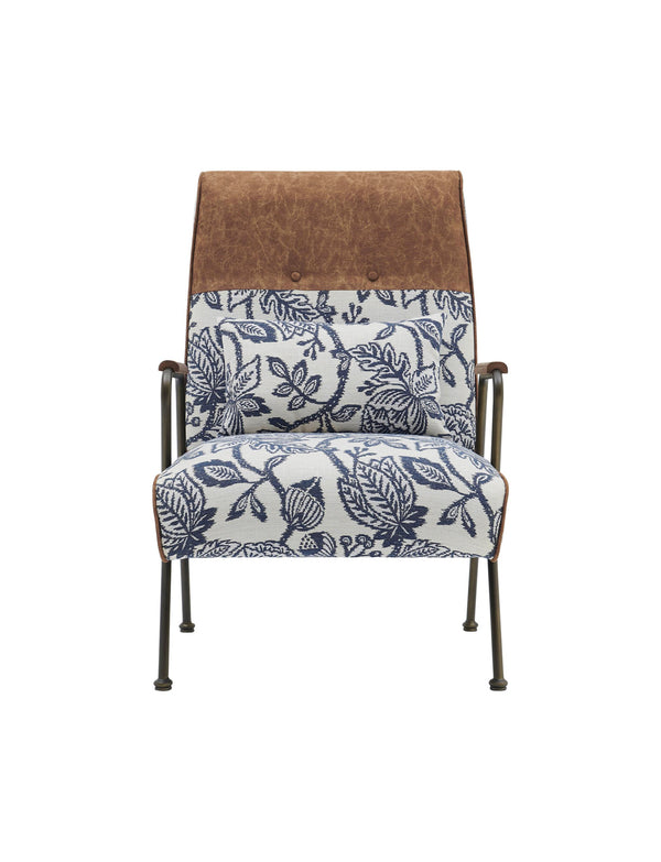 Kally Accent Chair, Azure Floral