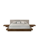 Fuji Bed, Walnut & Grey