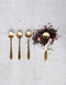 Stainless Steel Flower Shaped Spoon Set / 5""