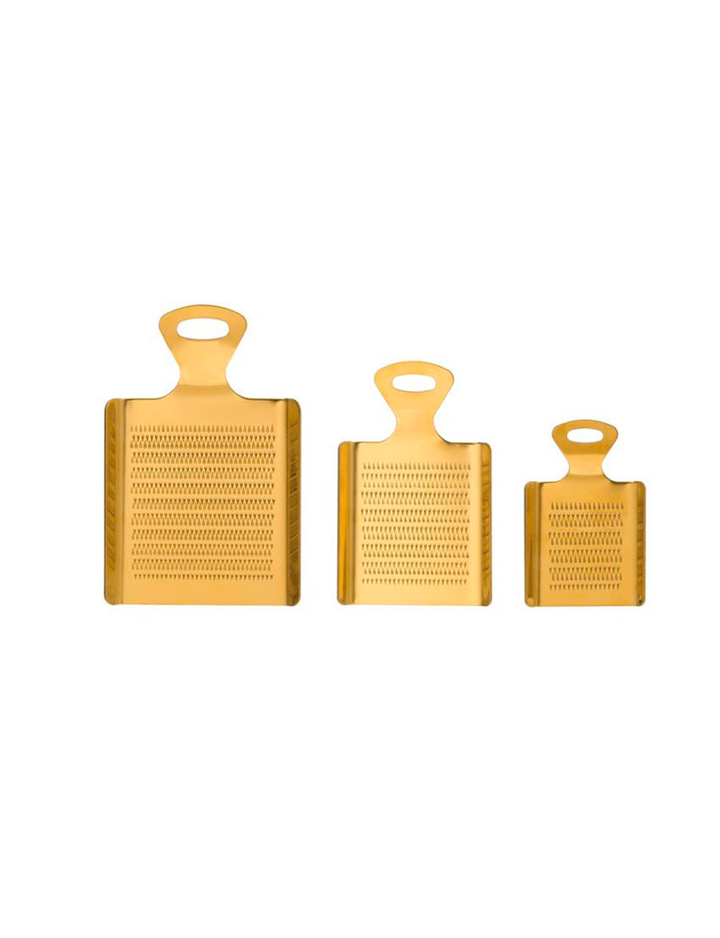Gold Stainless Steel Graters, Set of 3