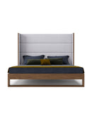 Helio Fabric & Walnut Bed