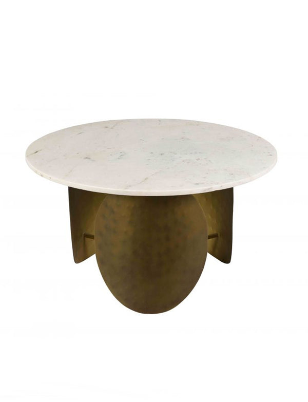 INDIA WHITE MARBLE COCKTAIL TABLE