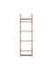 METAL & WOOD WALL RACK / 71''H