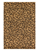 Wildlife Rectangle Rug, Light Brown