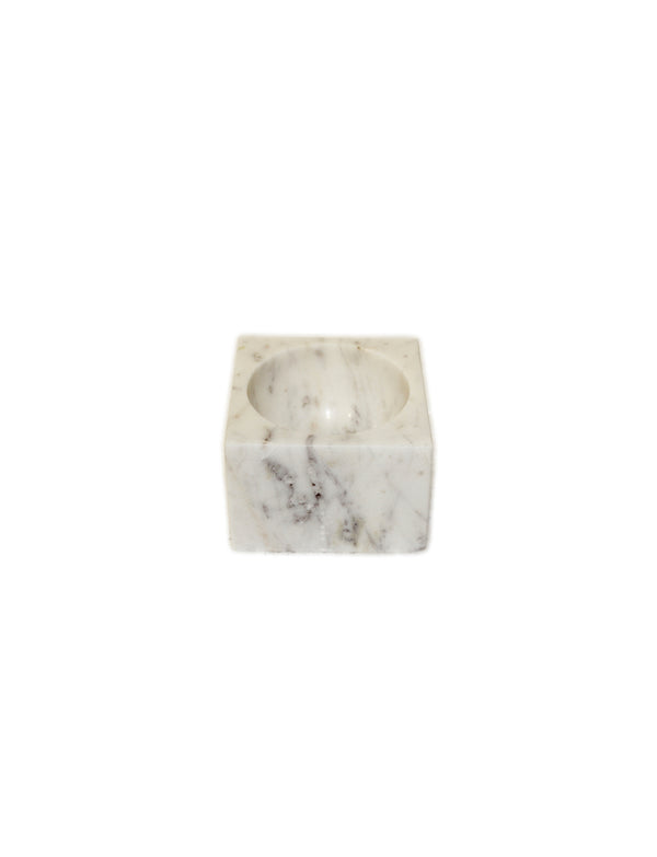 SQUARE MARBLE CONCAVE BOWL