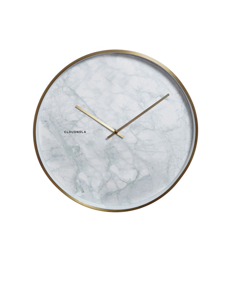 Structure Marble Wall Clock - Black
