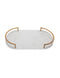 WHITE MARBLE OVAL TRAY / 18""