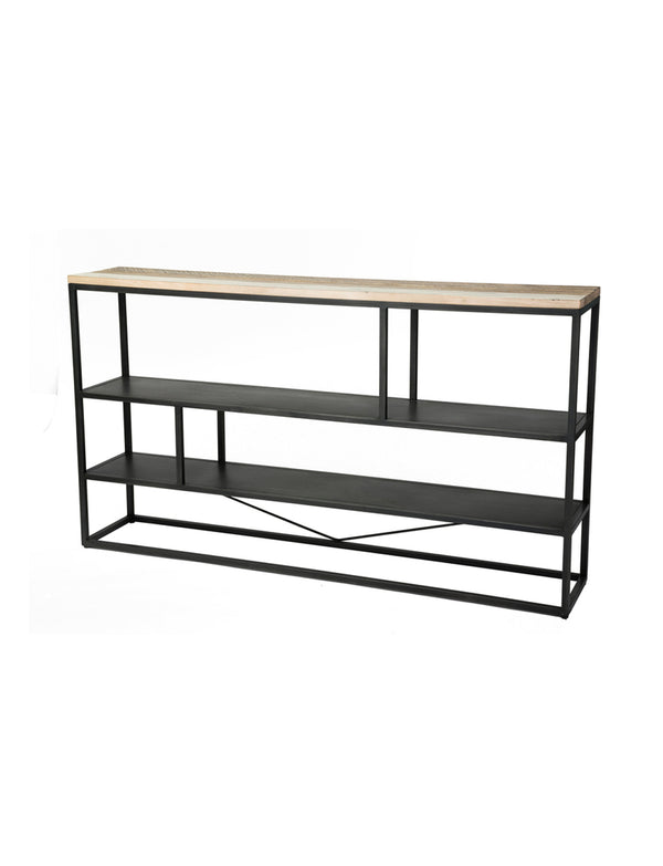 Noir Cavana Low Bookcase