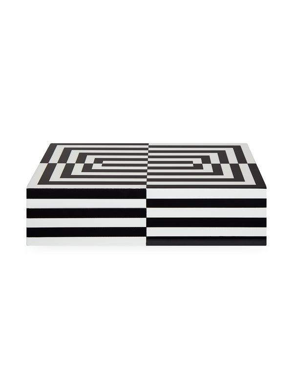 LARGE OP ART LACQUER BOX