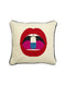 LIPS FULL DOSE NEEDLEPOINT THROW PILLOW