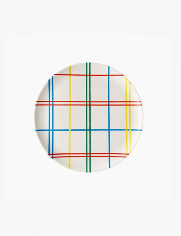 Xenia Taler Plaid Side Plate / 8""