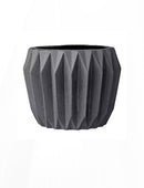 Stoneware Fluted Flower Pot