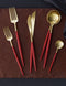Goa Flatware Red/Gold