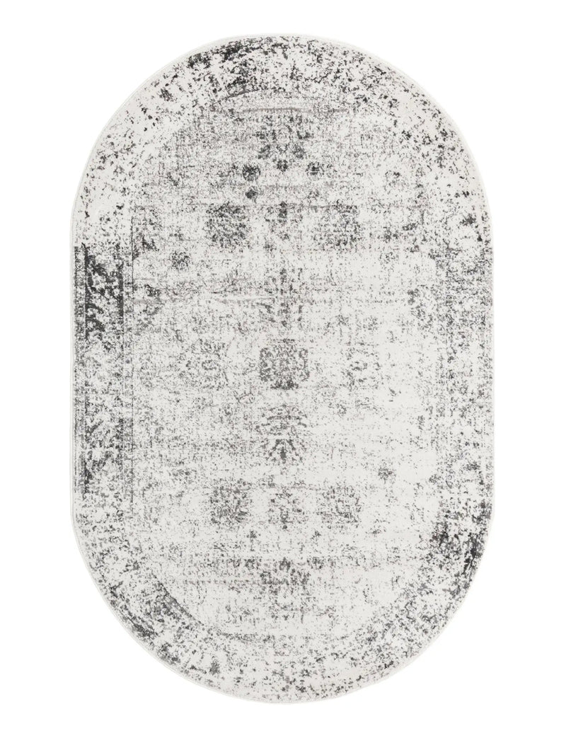 Sofia Oval Rug, Grey