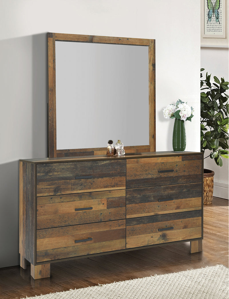 Sidney Square Mirror Rustic Pine