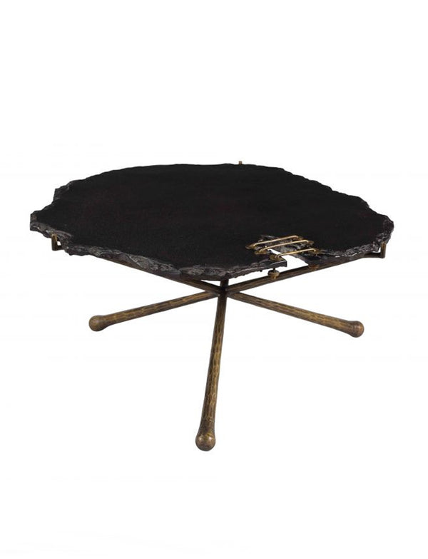 sierra black stone cocktail table